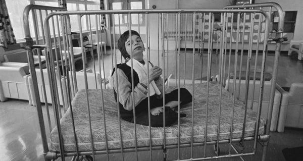 Metal Hospital Baby Bed