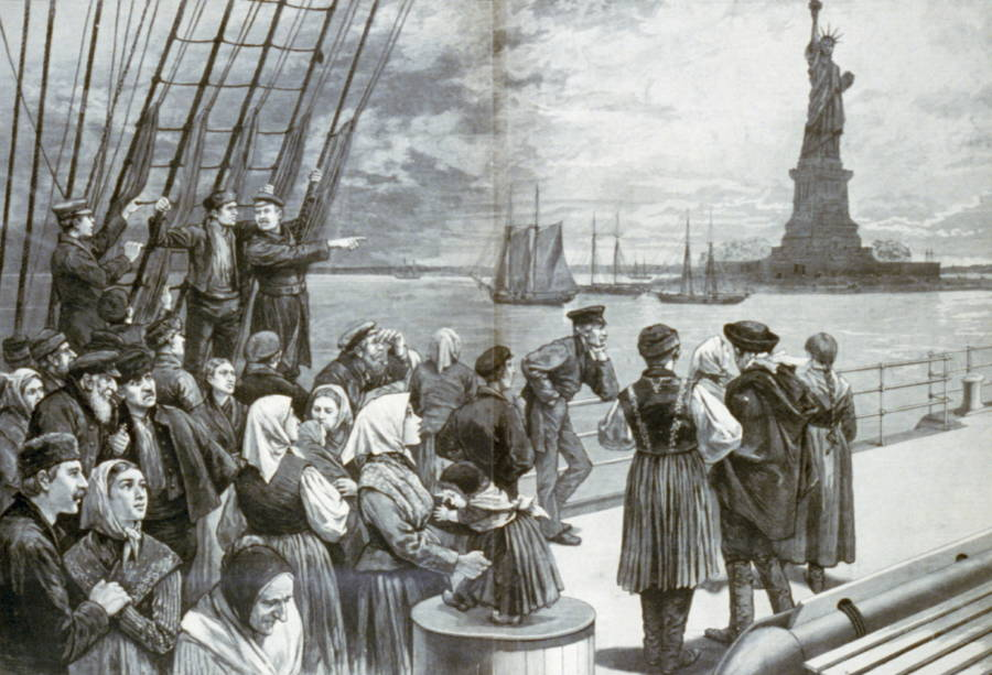Immigrants Pointing
