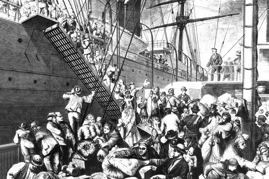 Immigration History Dock Unloading
