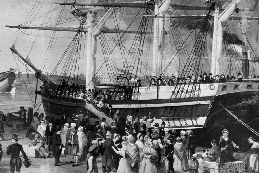 Immigration History Embarking Colonists