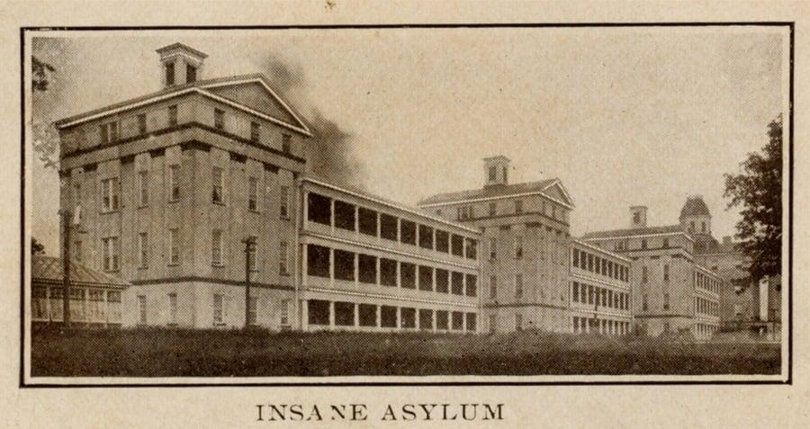 Insane Asylum Postcard