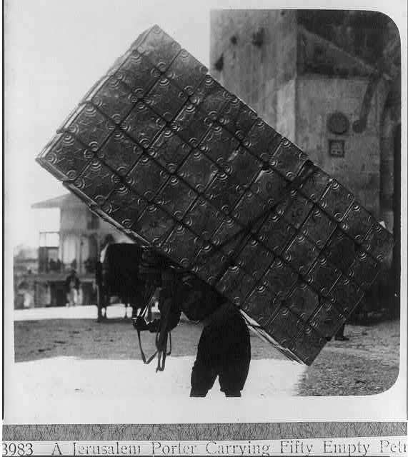 Jerusalem Porter Carrying Petrol