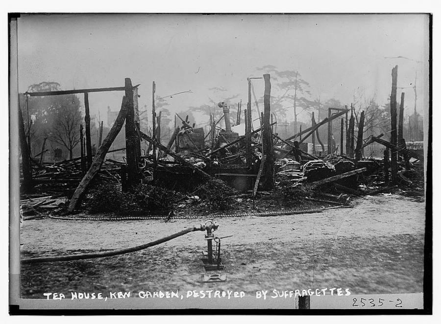 Kew Garden Burned Down