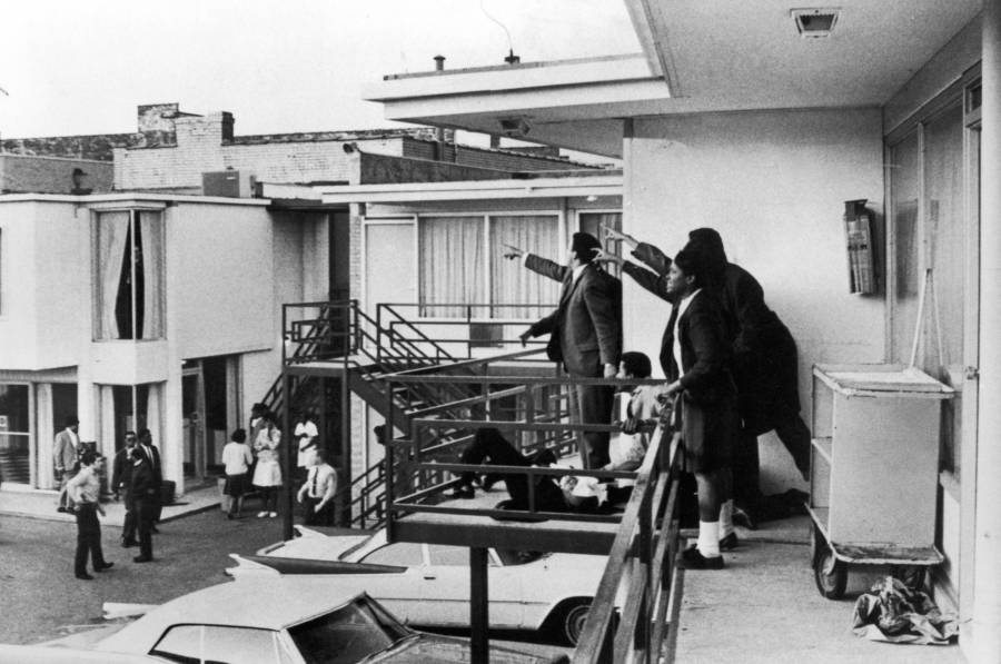 Martin Luther King Assassination Photo