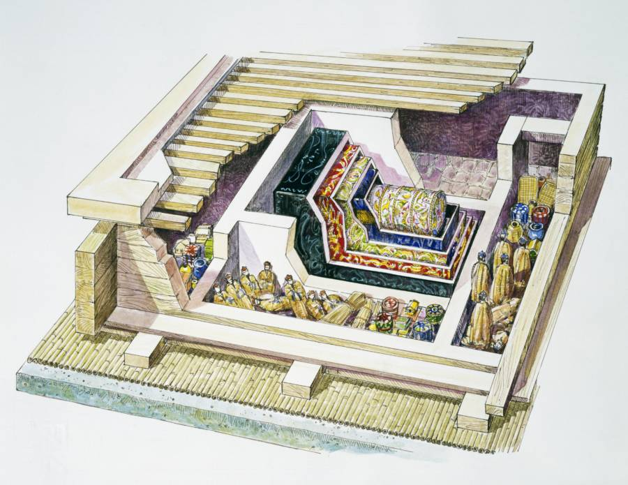 Lady Dai Tomb Layout