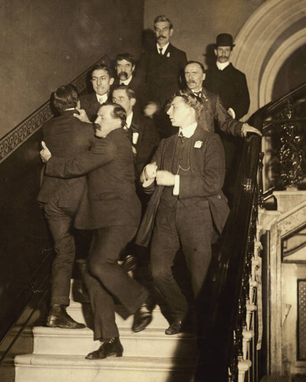 Male Suffragist Ejected