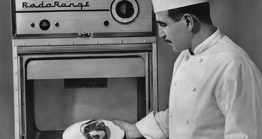 Accidental Inventions Chef putting food in microwave