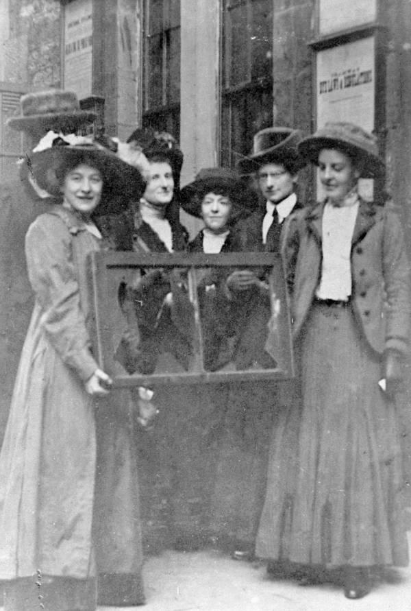 Militant Suffragettes Broken Window