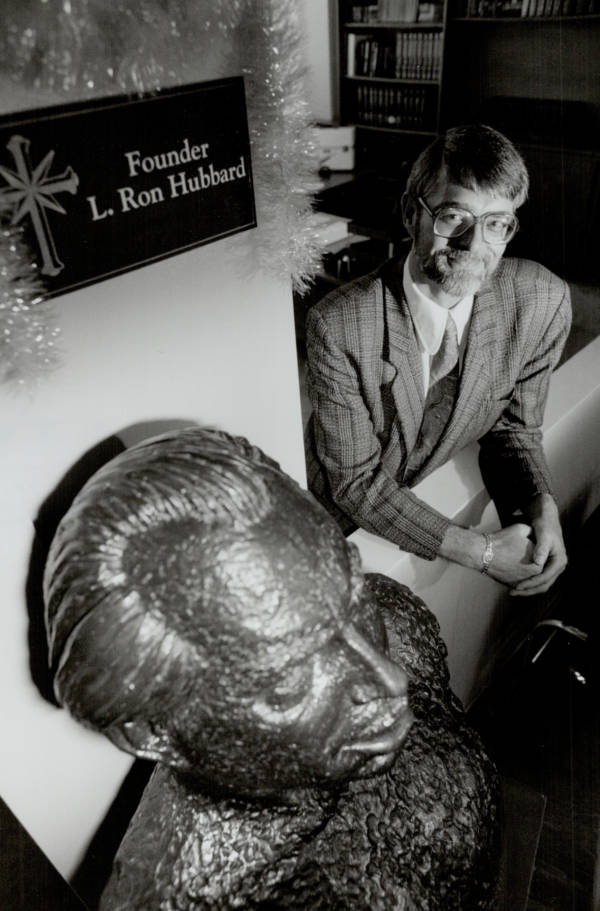 Minister With Hubbard Bust