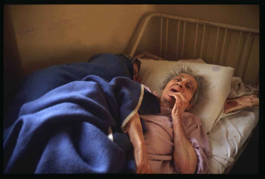Old Patient In Bed