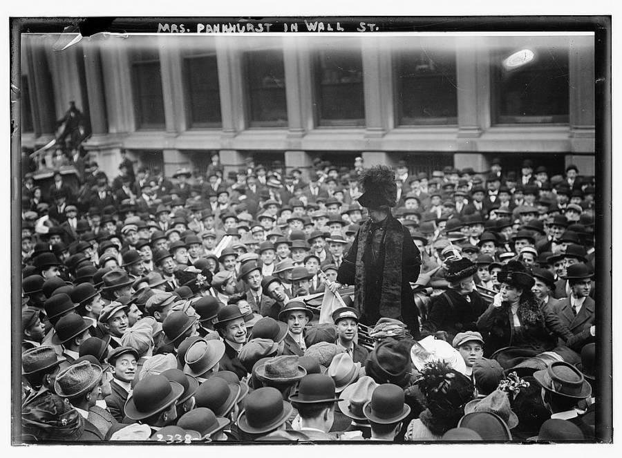 Pankhurst Speaks In Wallstreet