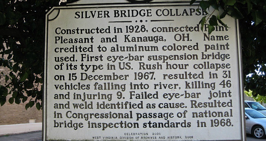 Point Pleasant Bridge Collapse Sign