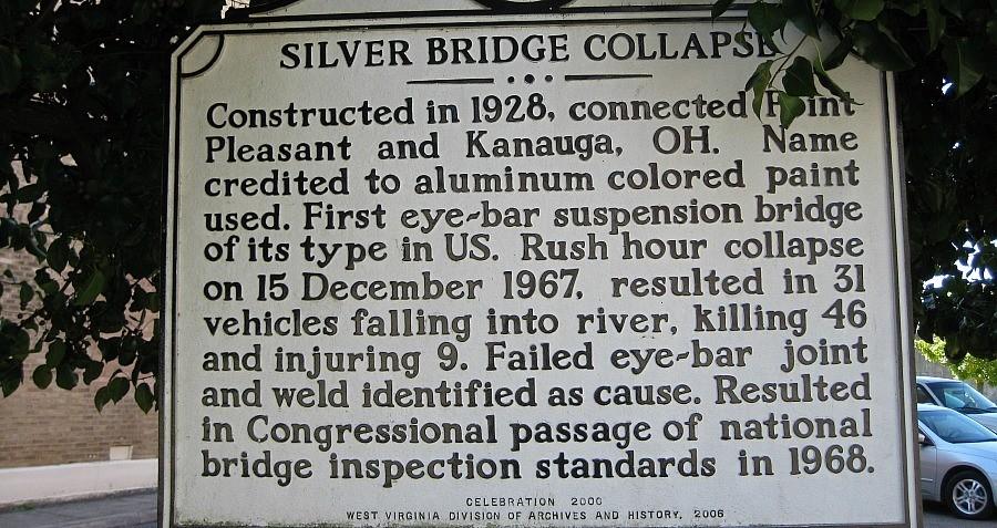 Point Pleasant Silver Bridge Collapse Sign
