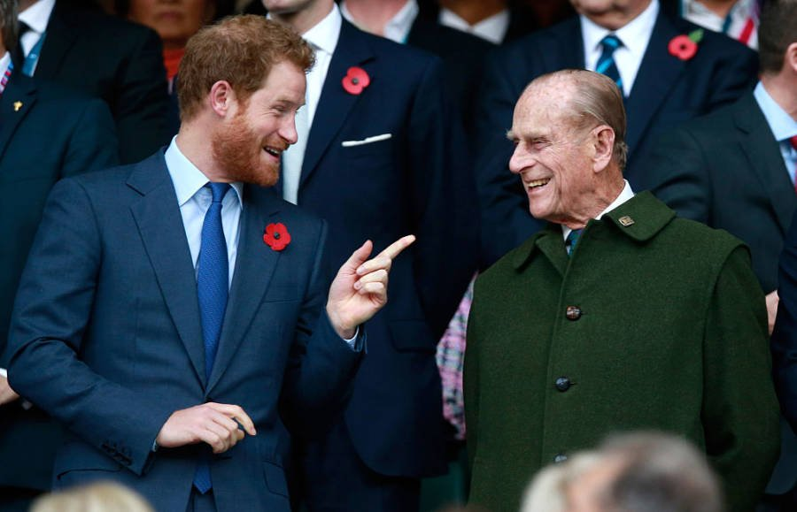 Prince Philip With Prince Harry