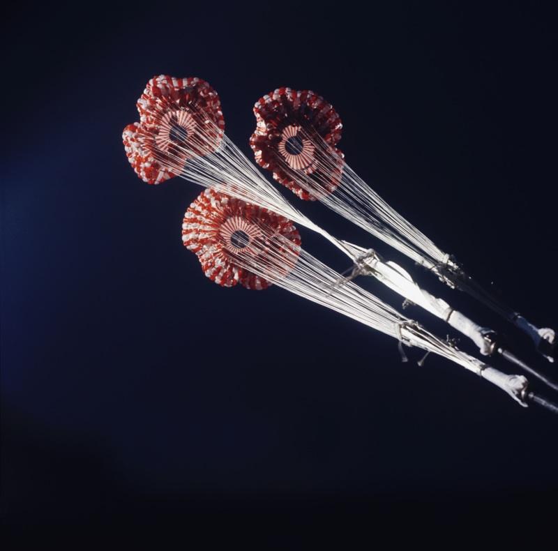 Skylab Three Parachutes