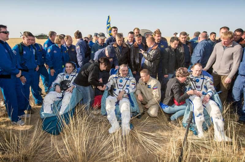 Soyuz Capsule Landing