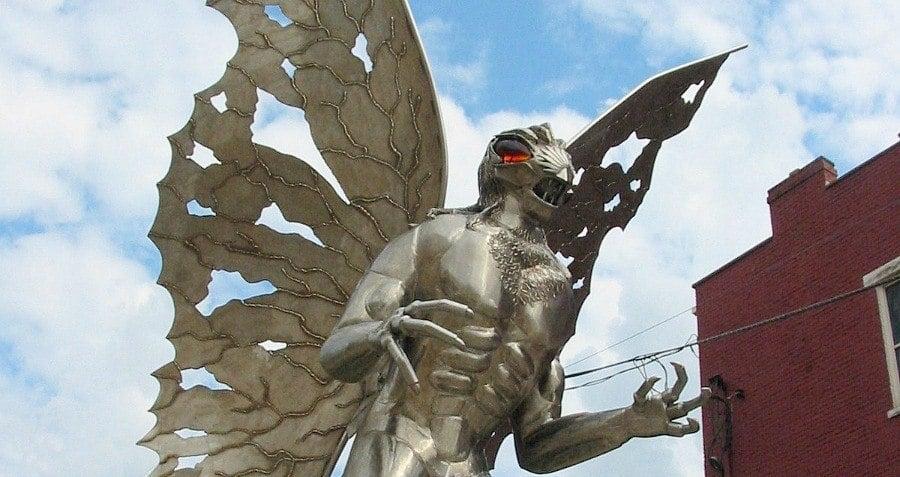 Statue Mothman Point Pleasant West Virginia Myths
