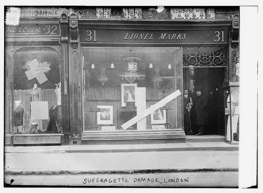 Store Damaged By Suffragettes