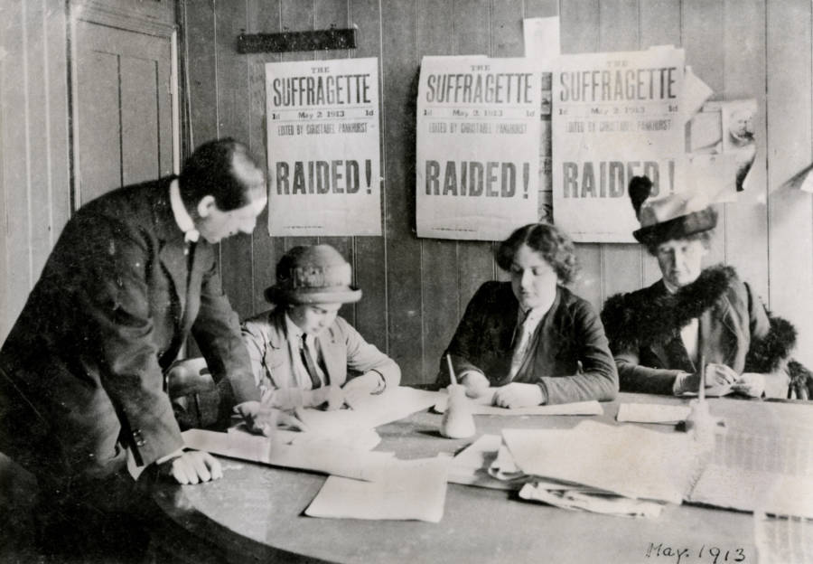 Suffragettes Raided