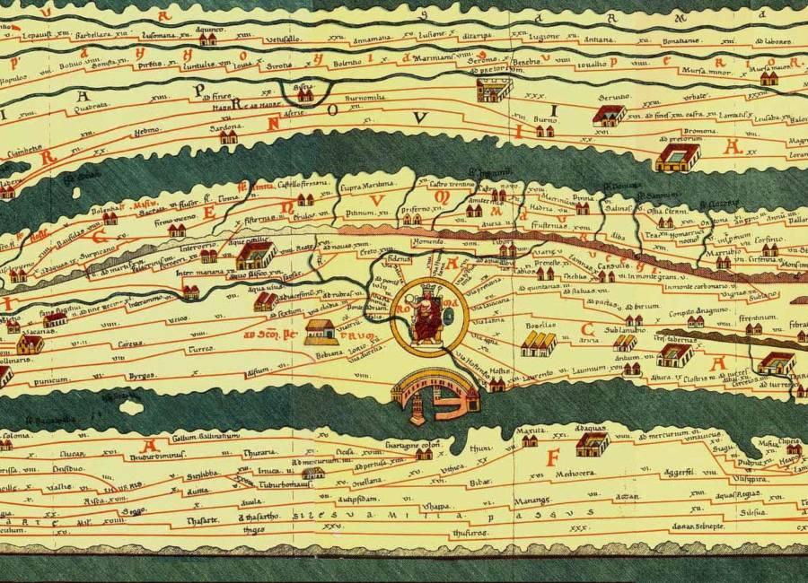 Tabula Peutingeriana Roma