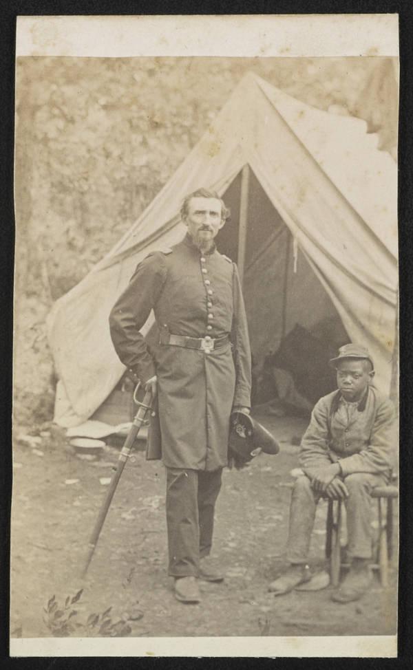 Union Commander With Servant