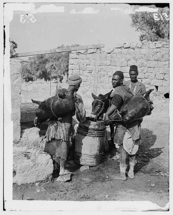 Water Carriers In Jerusalem