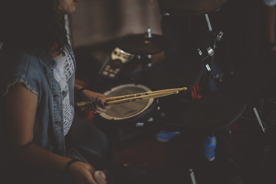 Woman Drums