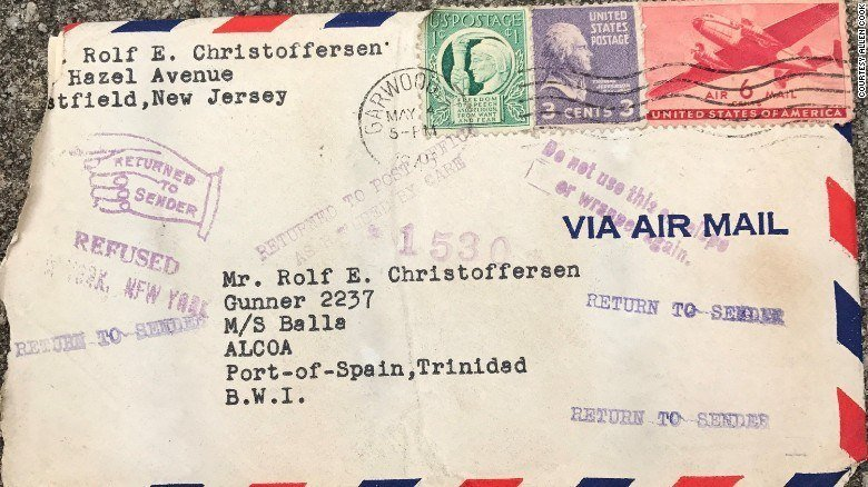 Wwii Love Letter Envelope