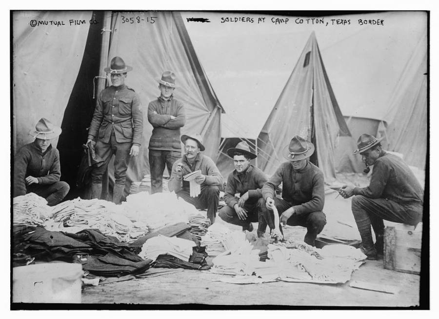 American Soldiers Camp Cotton