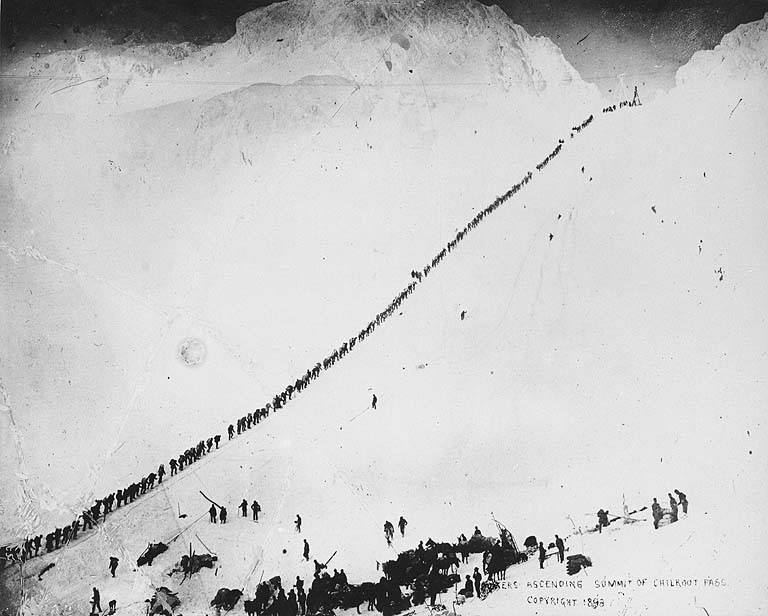Ascending Chilkoot Pass