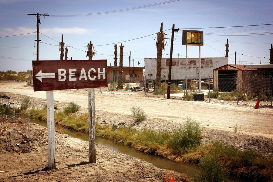 Beach Sign Salton Sea