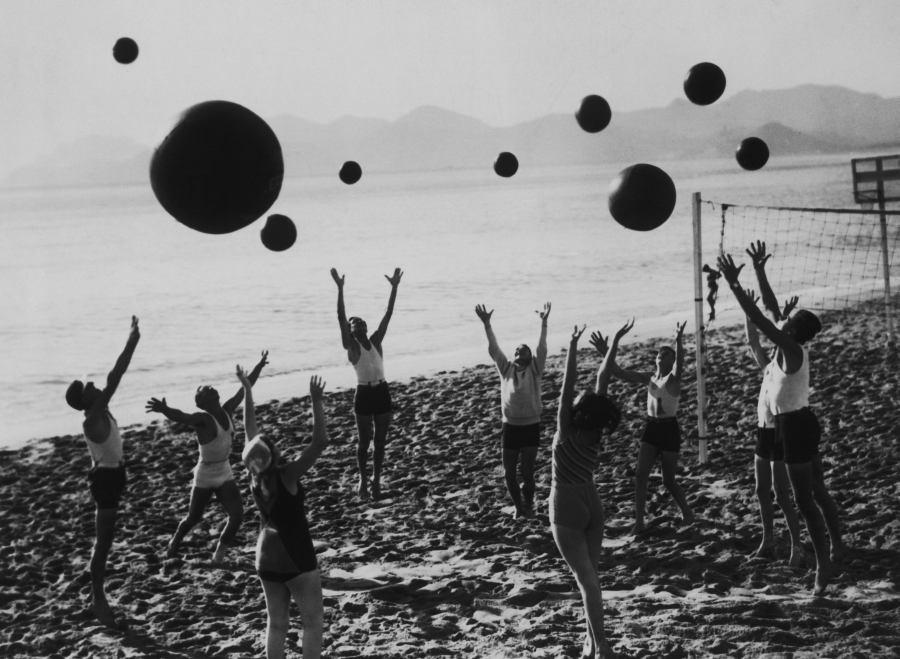 Beachballs On Beach