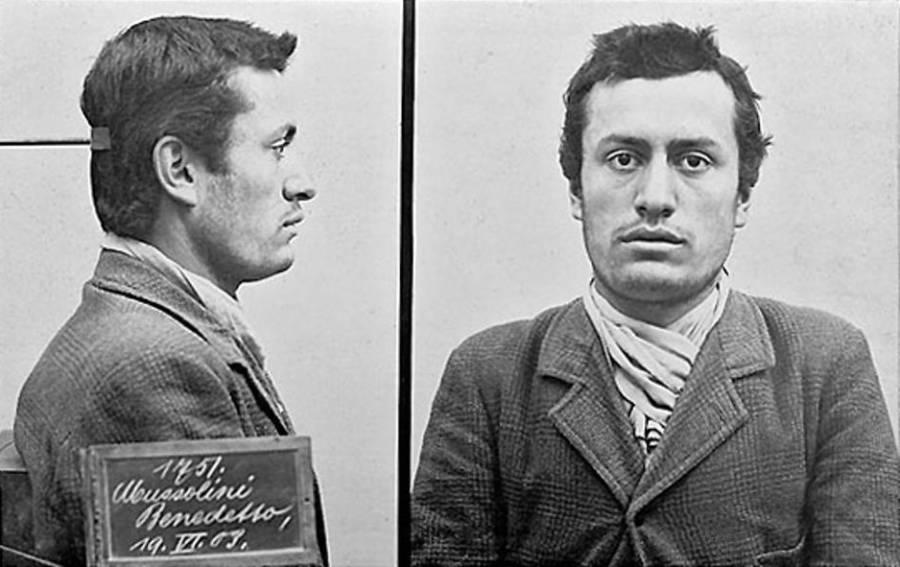Benito Mussolini Mugshot