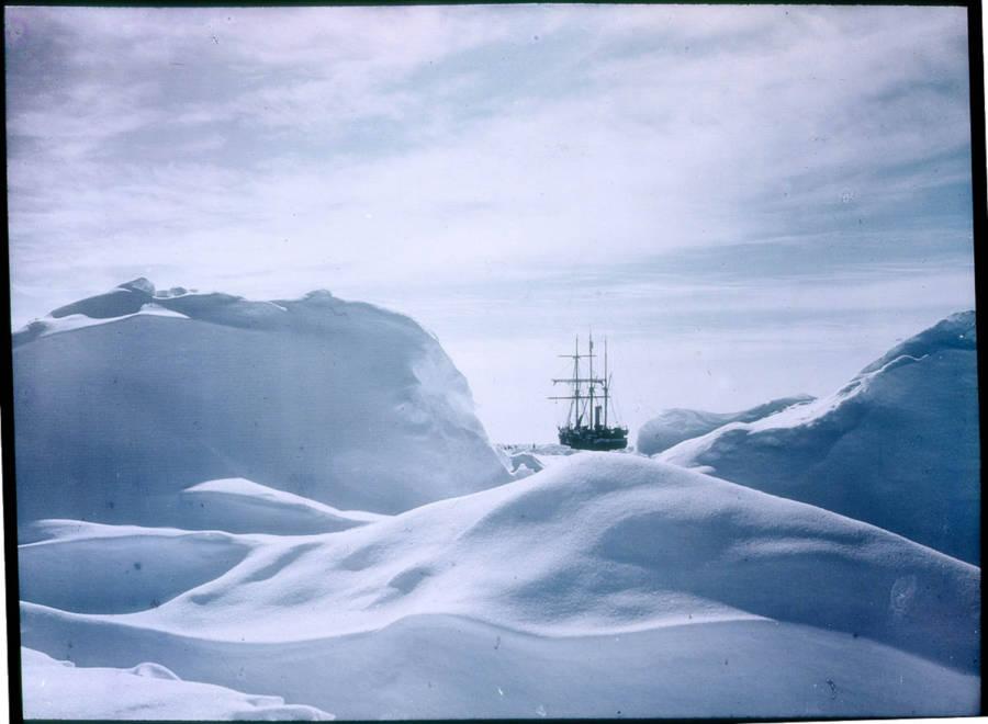 Boat Seen Through Snow