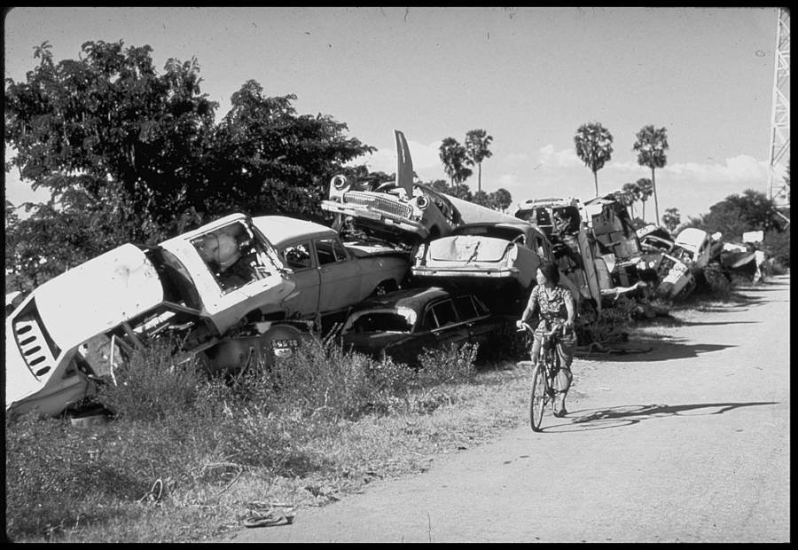Cambodia Crashed Cars