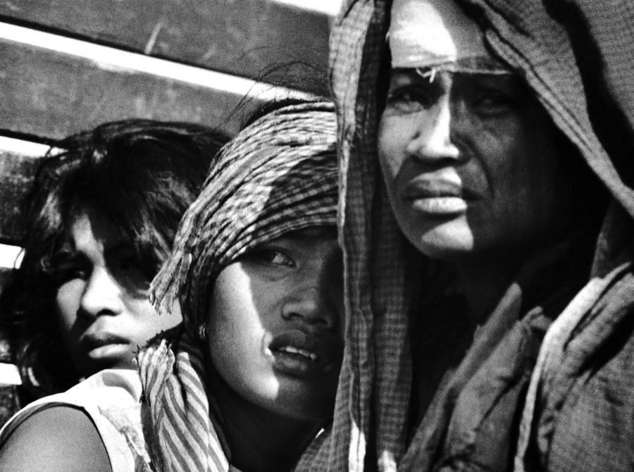 Cambodian Women Huddling