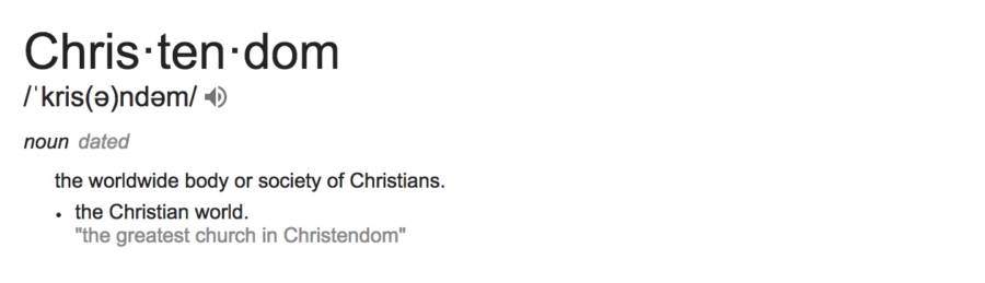 Christendom Definition
