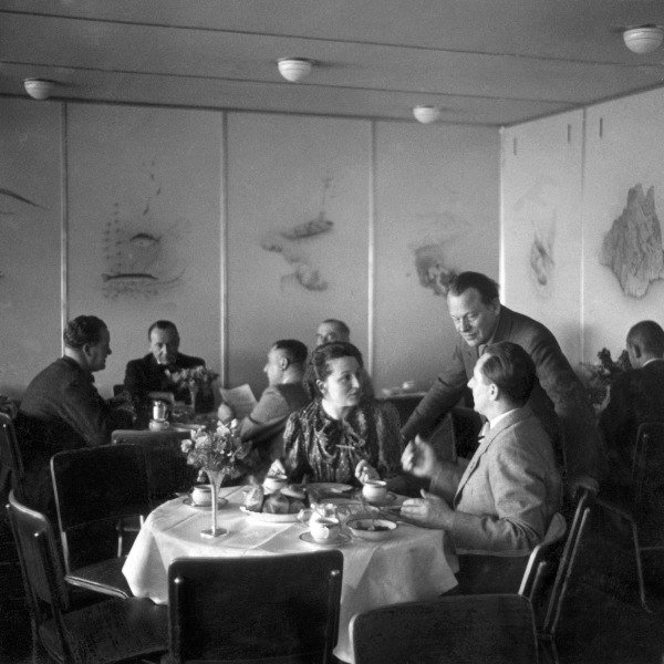 Dining Room In The Hindenburg Zeppelin