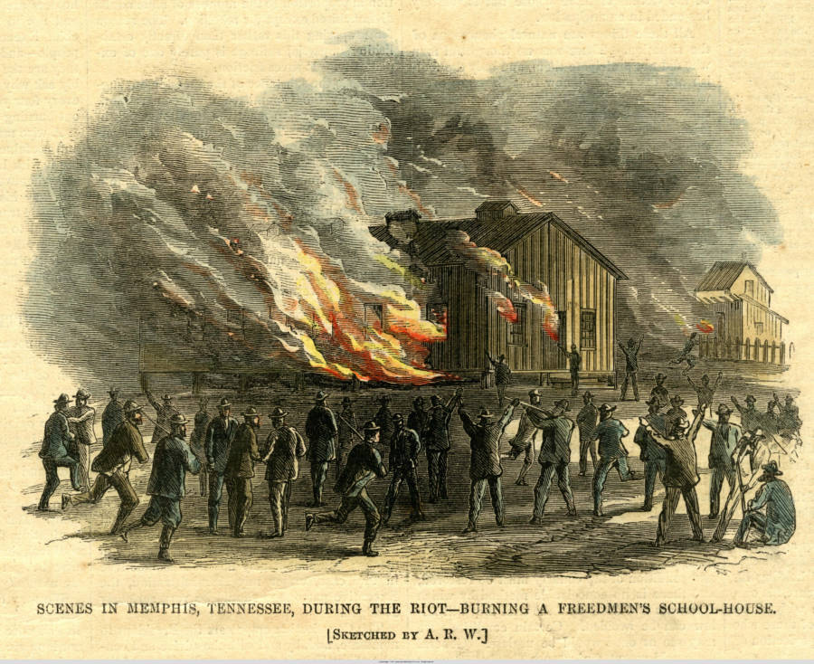 Freedmens Schoolhouse Burns