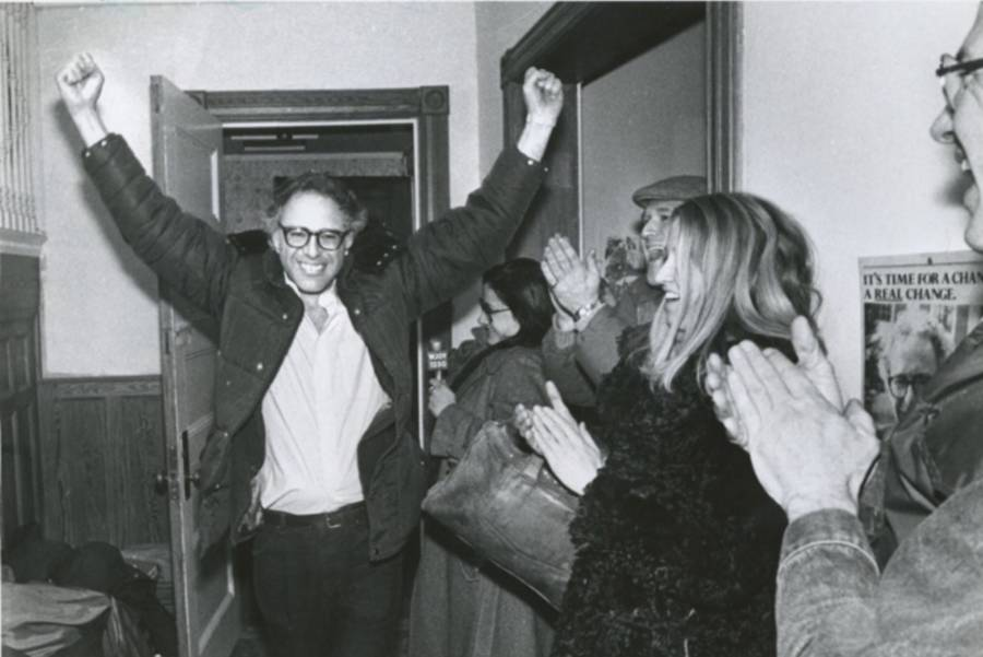 Happy Bernie Sanders