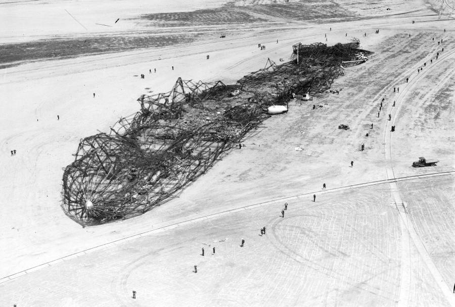 Hindenburg Charred Skeleton