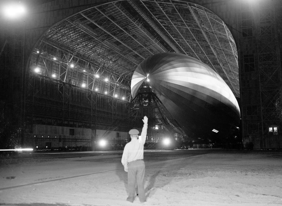 Hindenburg Disaster Hangar Night
