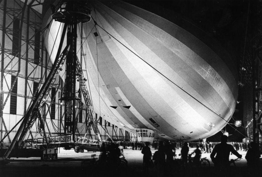 Hindenburg In Hangar