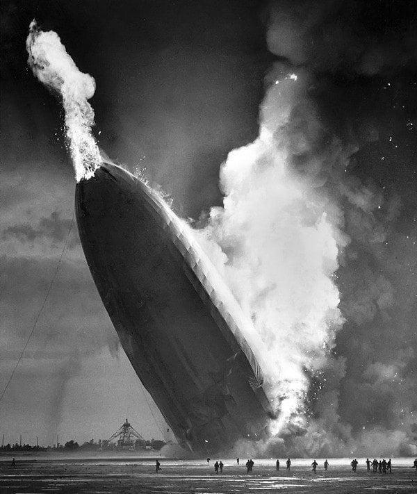 Hindenburg Nose Up Flames