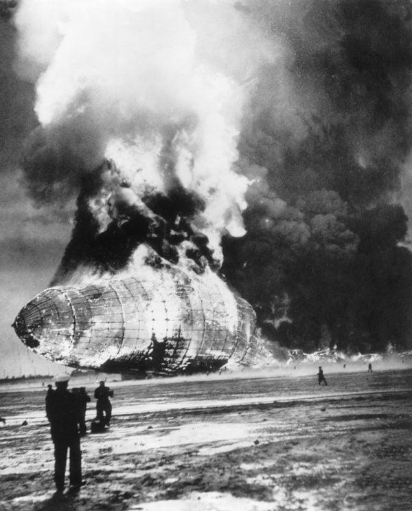 Hindenburg Shell On Fire