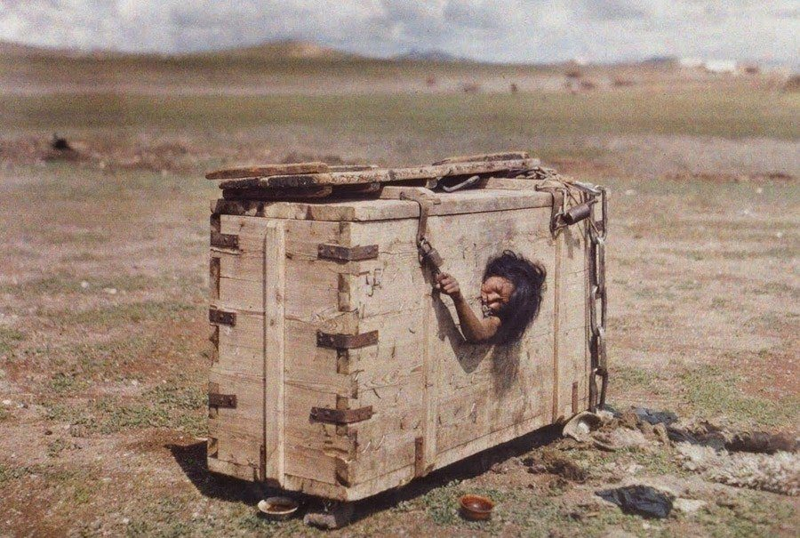 Immurement Mongolian Woman