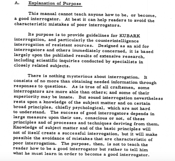 CIA Torture Manual: See Inside The Declassified KUBARK Handbook