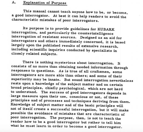 Interrogation Introduction