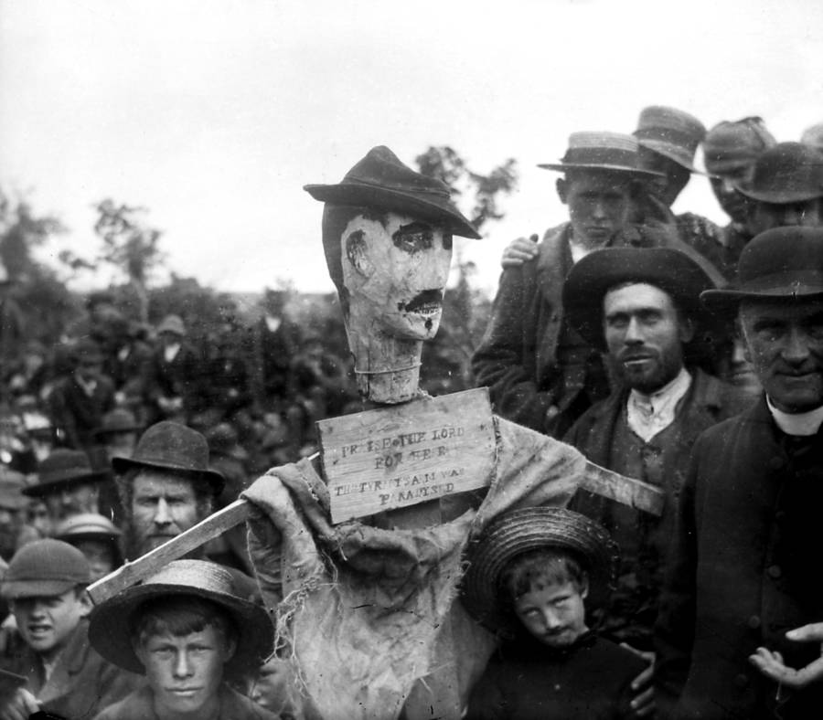 Irish Land War Effigy