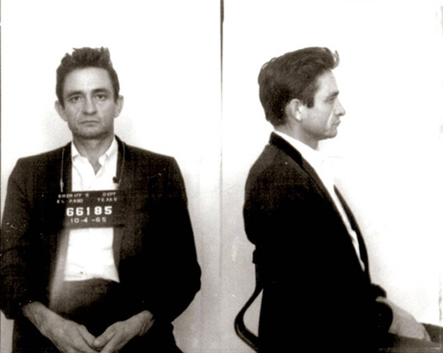 Johnny Cash Famous Mugshots